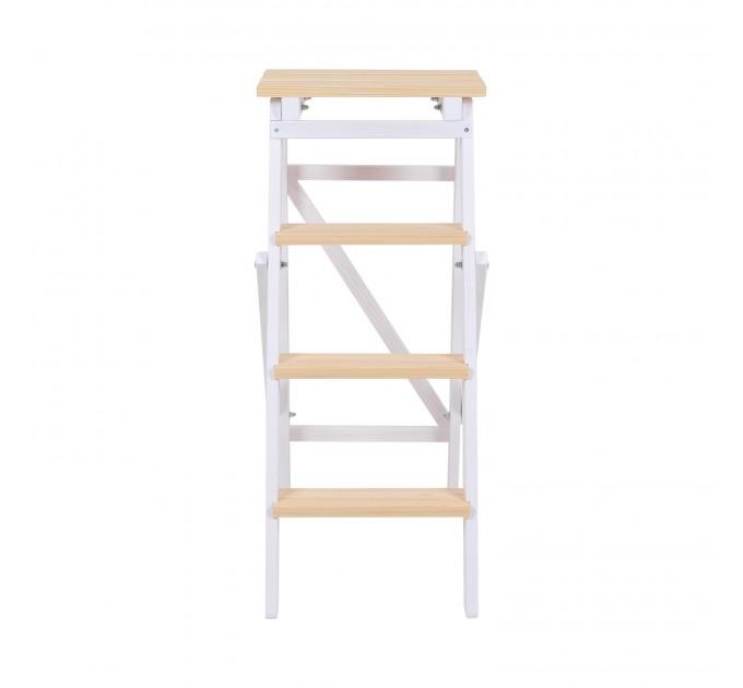 Стремянка бытовая деревянная LOFT 4 ступени, белый (LOFT-401) - фото № 2