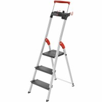 Лестница-стремянка Hailo L100 TopLine алюминиевая, 3 ступ. (8050307)