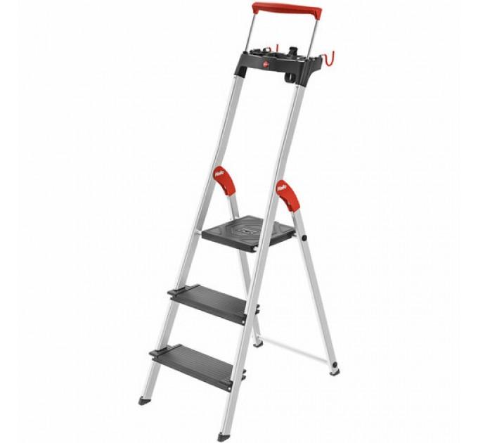 Лестница-стремянка Hailo L100 TopLine алюминиевая, 3 ступ. (8050307) - фото № 1