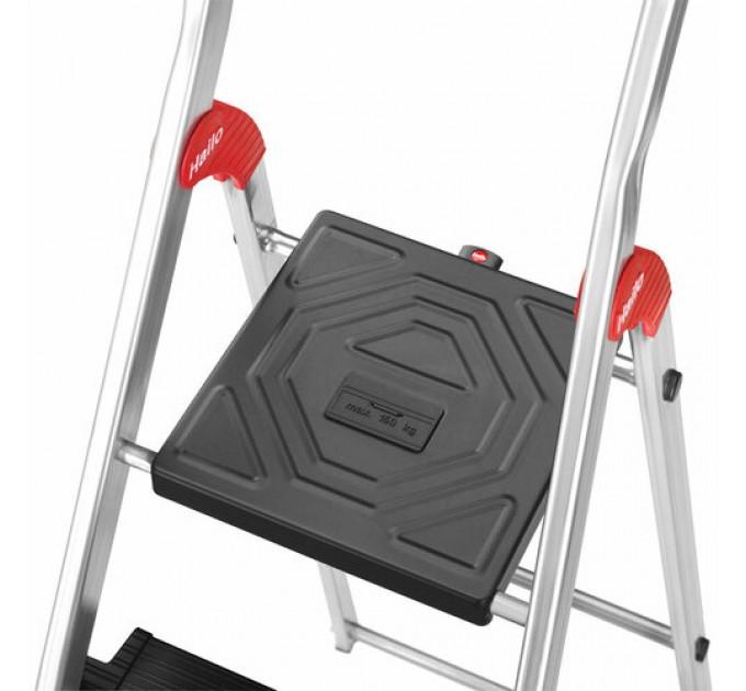 Лестница-стремянка Hailo L100 TopLine алюминиевая, 3 ступ. (8050307) - фото № 11