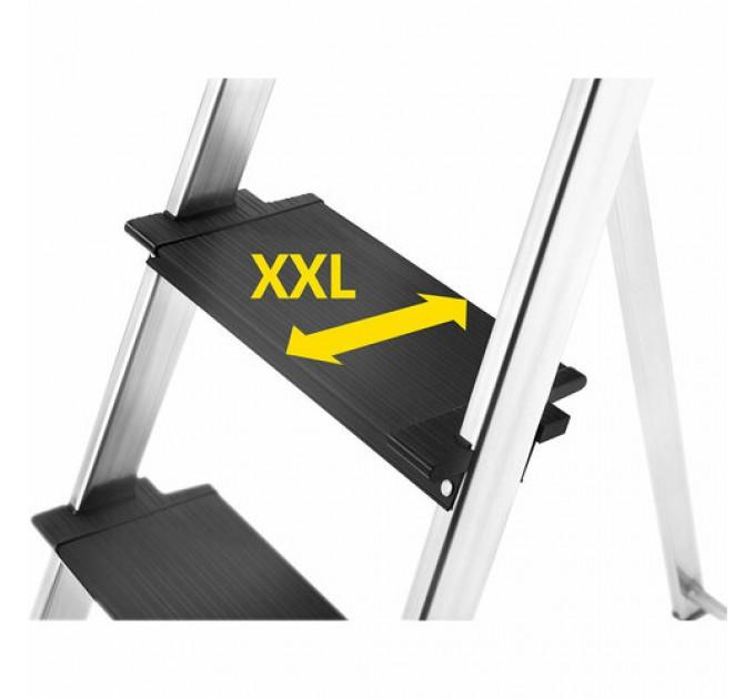 Лестница-стремянка Hailo L100 TopLine алюминиевая, 3 ступ. (8050307) - фото № 9