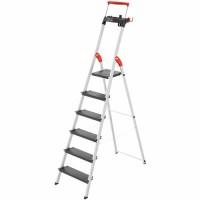 Лестница-стремянка Hailo L100 TopLine алюминиевая, 6 ступ. (8050607)