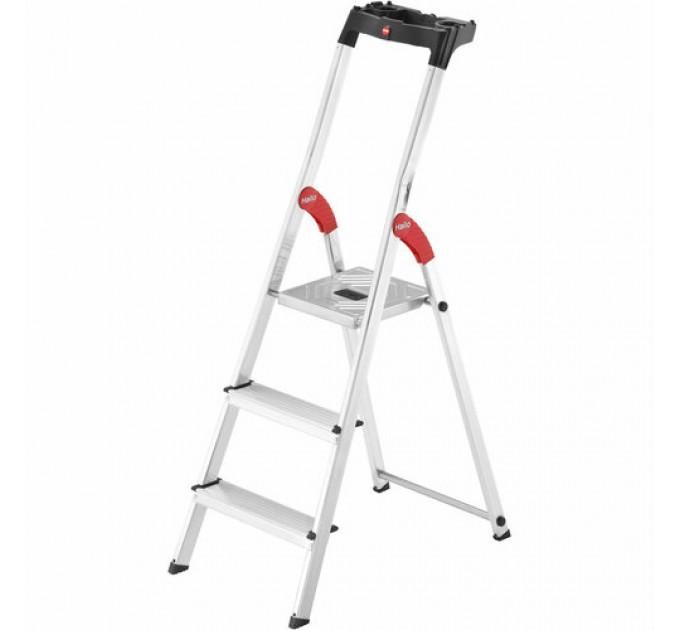 Лестница-стремянка Hailo L60 StandardLine алюминиевая, 3 ступ. (8160307) - фото № 1