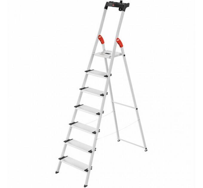Лестница-стремянка Hailo L80 ComfortLine алюминиевая, 7 ступ. (8040707)