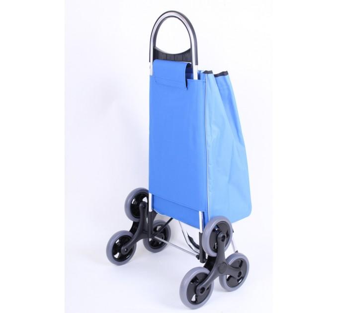 Сумка хозяйственная на колесах Aurora Verona, голубая в точку (107)