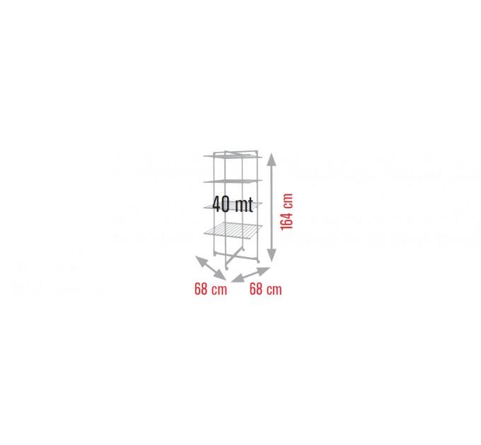 Сушка для белья Meliconi Lock Tower 4, 40м, темно-голубая (70310604102)