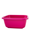 Таз хозяйственный Алеана квадратный 14л, темно-розовый (121044)