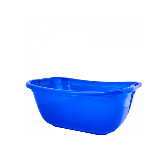Таз хозяйственный Алеана прямоугольный 22л, синий (121035) - фото № 1