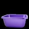 Таз хозяйственный Алеана квадратный 14л, фиолетовый перламутр (121044)