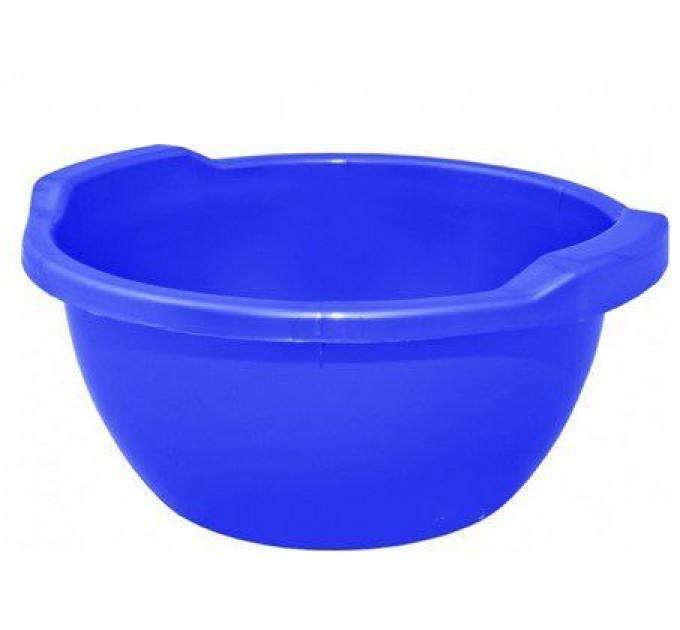 Таз хозяйственный Алеана круглый 34л, синий (621050)