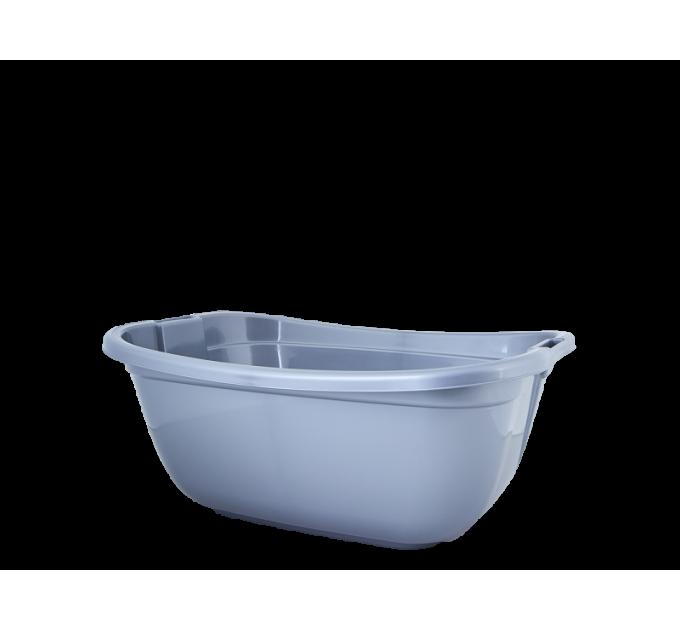 Таз хозяйственный Алеана прямоугольный 22л, серый (121035) - фото № 1