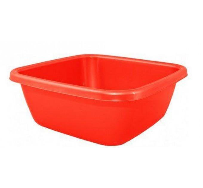 Таз хозяйственный Алеана квадратный 14л, красный (621044)