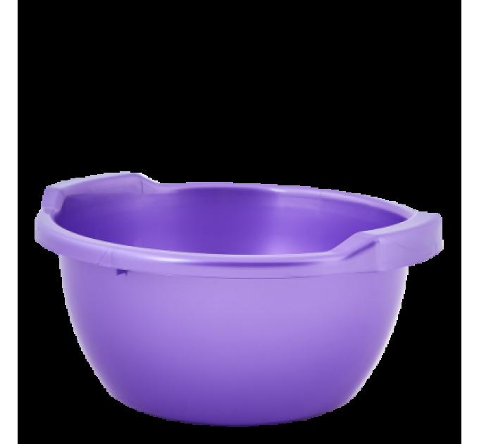 Таз хозяйственный Алеана круглый 3л, фиолетовый перламутр (121051) - фото № 1