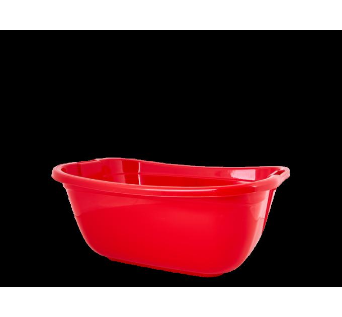 Таз хозяйственный Алеана прямоугольный 22л, красный (621035)