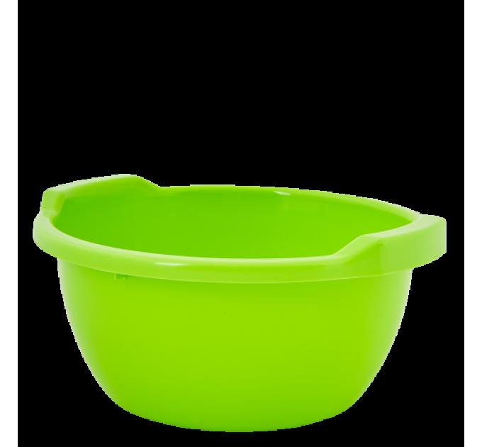 Таз хозяйственный Алеана круглый 34л, оливковый (621050)