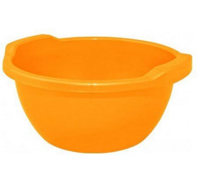 Таз хозяйственный Алеана круглый 8л, светло-оранжевый (121053)