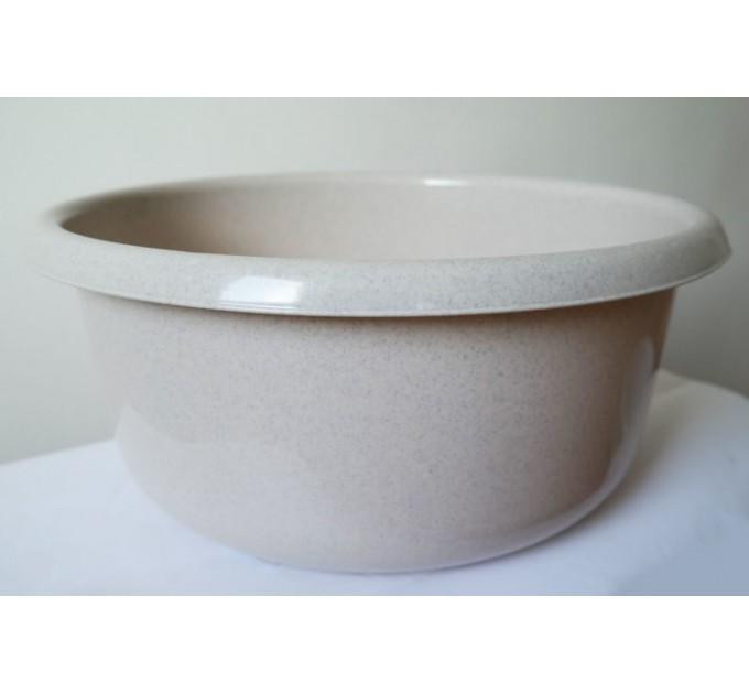 Миска пластиковая ММ-Пласт 10л, бежевый (M10/beige) - фото № 1