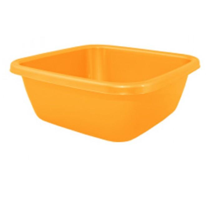Таз хозяйственный Алеана квадратный 14л, светло-оранжевый (121044)
