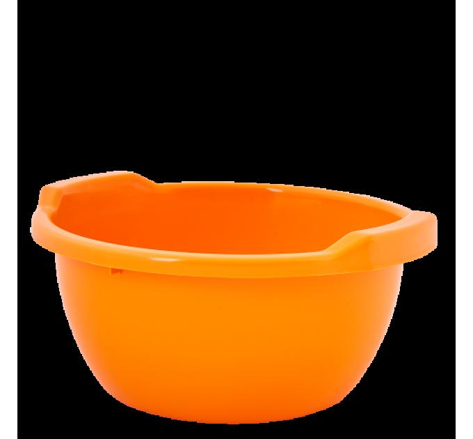 Таз хозяйственный Алеана круглый 3л, оранжевый (121051) - фото № 1