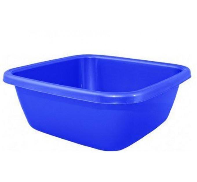 Таз хозяйственный Алеана квадратный 14л, синий (621044)