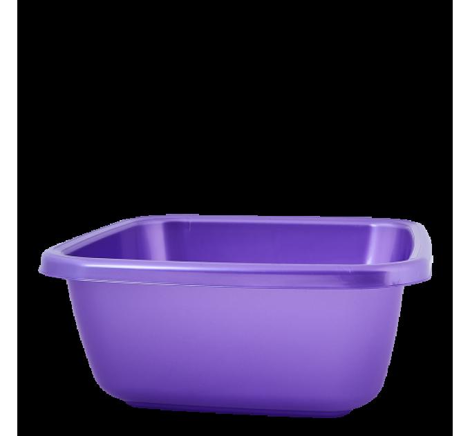 Таз хозяйственный Алеана квадратный 6л, фиолетовый перламутр (121042) - фото № 1