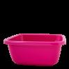 Таз хозяйственный Алеана квадратный 9л, темно-розовый (121043)