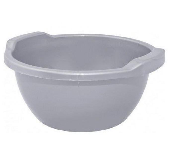 Таз хозяйственный Алеана круглый 44л, серый (121056)