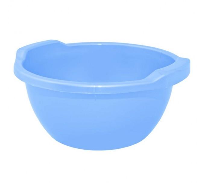 Таз хозяйственный Алеана круглый 15л, голубой (121054) - фото № 1