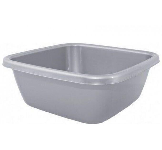 Таз хозяйственный Алеана квадратный 14л, серый (121044) - фото № 1