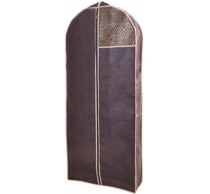 Чехол объёмный для одежды Тарлев 8*60*140см, Brown (4620) - фото № 1