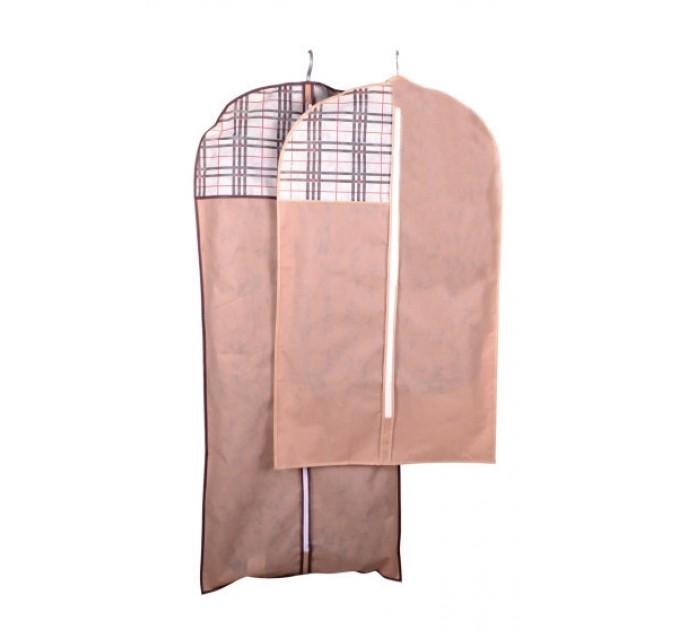 Чехол объёмный для одежды Тарлев 8*60*140см, Beige (4420)