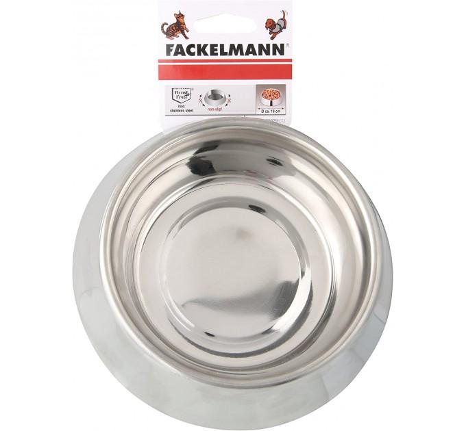 Миска Fackelmann для домашних животных D18 см, сталь (59929) - фото № 1