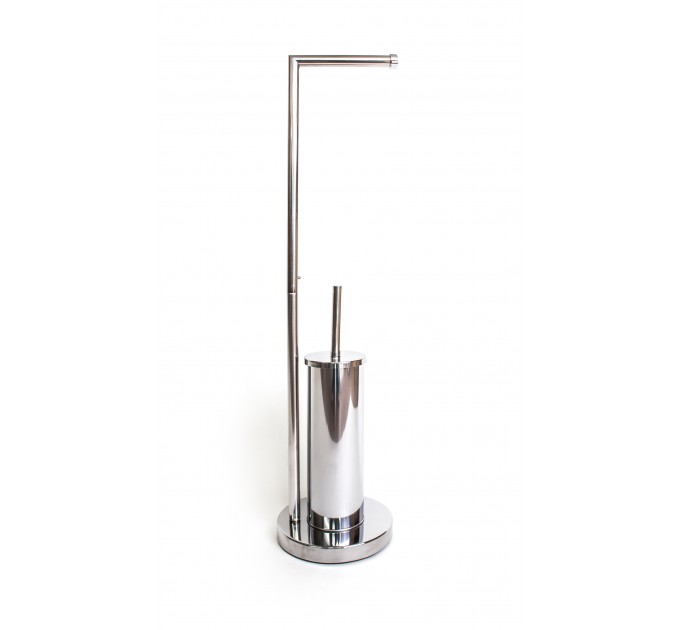 Стойка с ершиком и держателем Eco Fabric, нержавеющая сталь (TRL0401-AB)