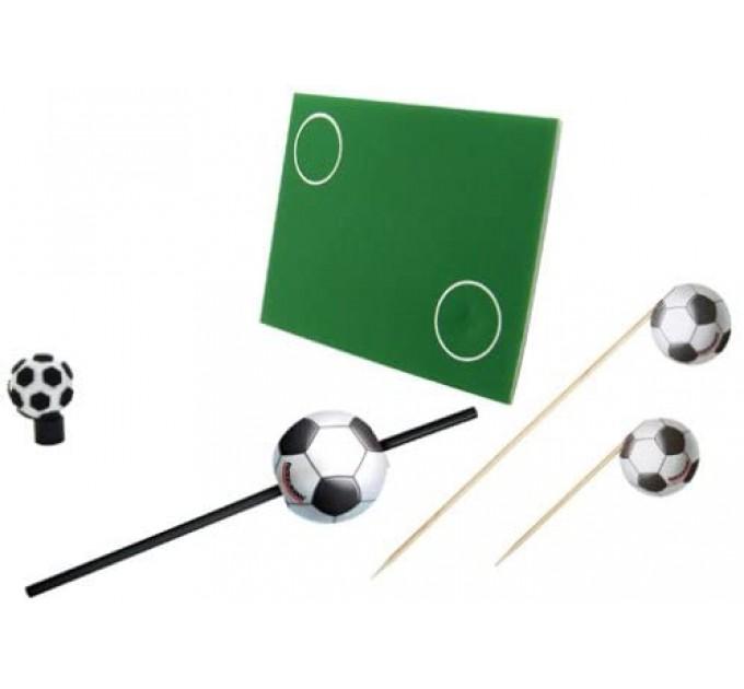 """Набор для праздника Fackelmann """"Футбол"""" коврик, соломка, шпажки для канапе (50284) - фото № 1"""