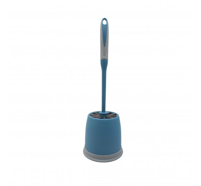 Ершик для унитаза Eco Fabric, сине-серый (EF-1215B)