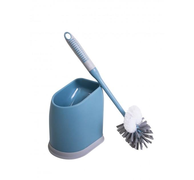 Ершик для унитаза Eco Fabric ПРЕМИУМ, сине-серый (TRL0317B) - фото № 1