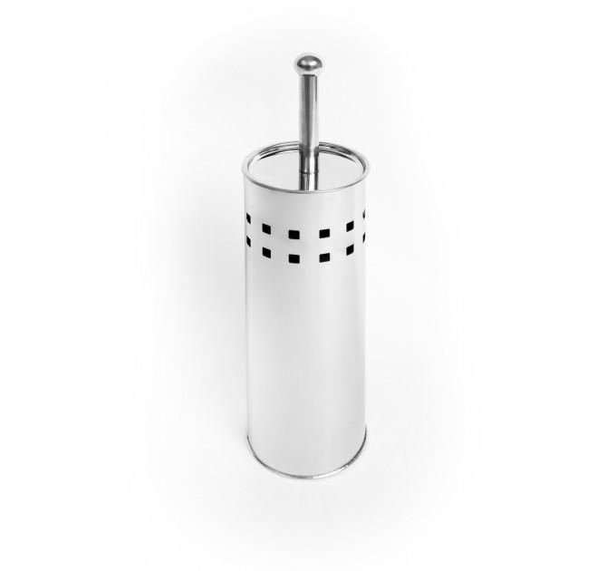 Ершик для унитаза Eco Fabric КВАДРАТ, нержавеющая сталь (TRL2404-A)
