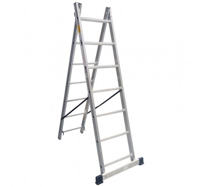 Лестница универсальная Drabest алюминиевая, 2 сек. 7 ступ. 2х7 (DR-AL-DP-W2X7-TL)