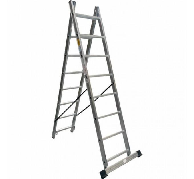 Лестница универсальная Drabest алюминиевая, 2 сек. 8 ступ. 2х8 (DR-AL-DP-W2X8-TL)