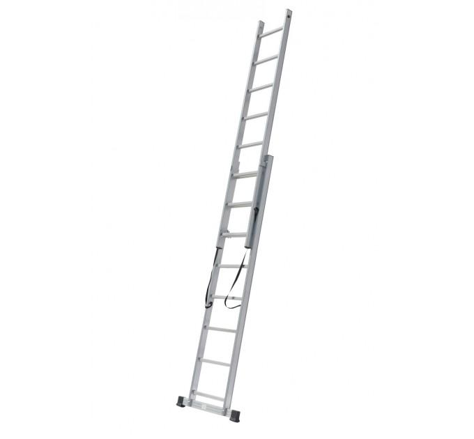 Лестница универсальная Drabest алюминиевая, 2 сек. 11 ступ. 2х11 (DR-AL-DP-W2X11TL)