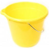 Ведро для уборки круглое 12л Tuttomop 42122, желтый (SERO12SS-yellow)