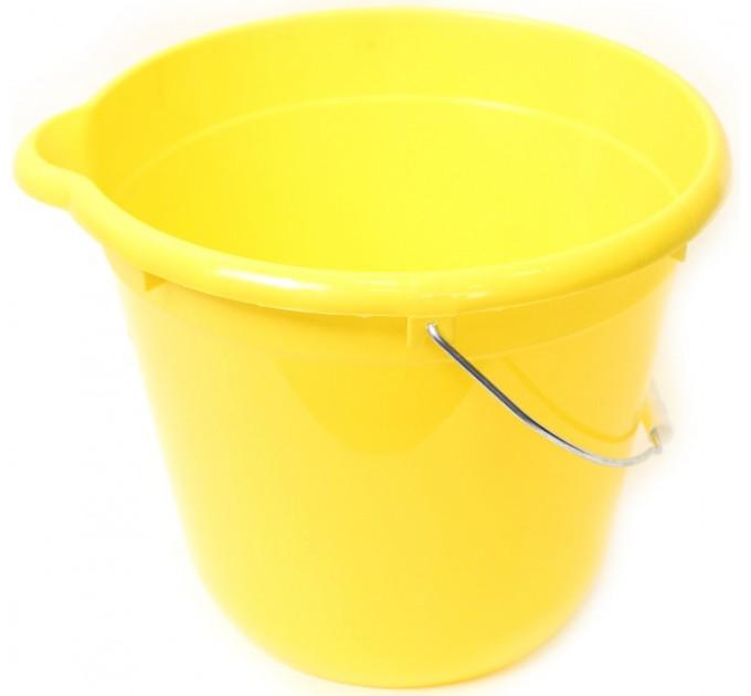 Ведро для уборки круглое 12л Tuttomop 42122, желтый (SERO12SS-yellow) - фото № 1