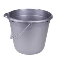 Ведро для уборки круглое 12л Tuttomop 42122, серый (SERO12SS-silver)