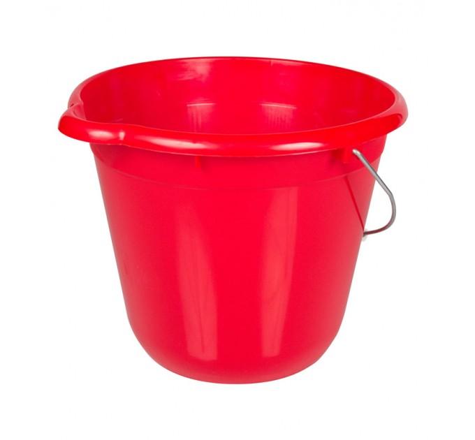 Ведро для уборки круглое 12л Tuttomop 42122, красный (SERO12SS-red) - фото № 1