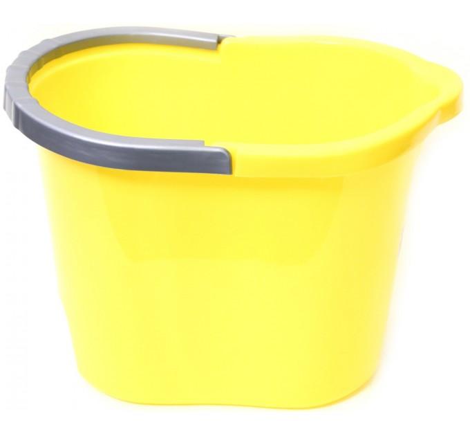 Ведро для уборки овальное 13л Tuttomop 00135, желтый (SOV13SS-yellow) - фото № 1
