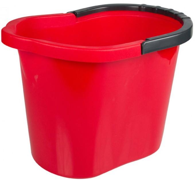 Ведро для уборки овальное 13л Tuttomop 00135, красный (SOV13SS-red) - фото № 1