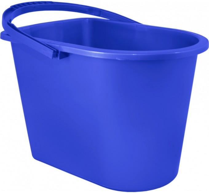 Ведро прямоугольное Алеана 14л, синий (122024) - фото № 1