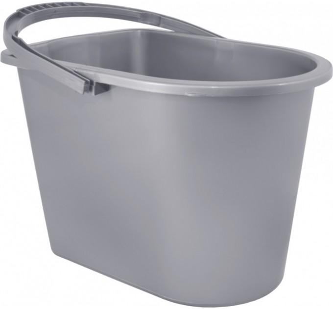 Ведро прямоугольное Алеана 14л, серый (122024) - фото № 1