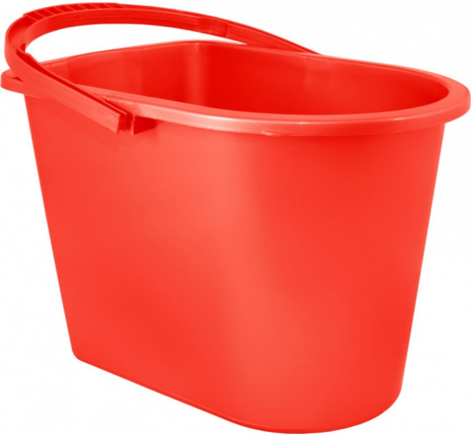 Ведро прямоугольное Алеана 14л, красный (122024) - фото № 1