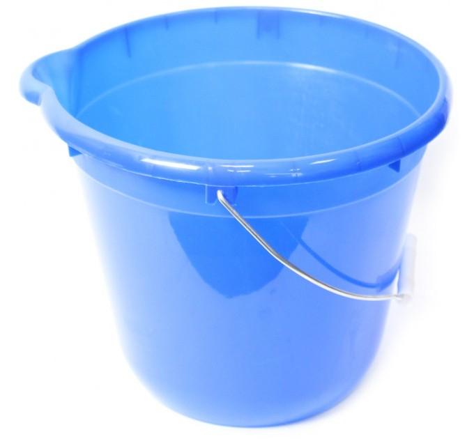 Ведро для уборки круглое 12л Tuttomop 42122, голубой (SERO12SS-blue) - фото № 1